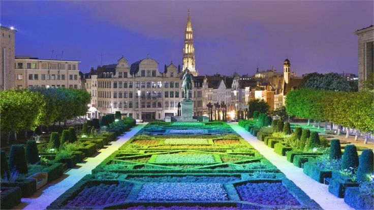 Городской застройки города городские пейзажи бельгия брюссель сады архитектура статуи 4 размеры шелковой ткани холст печать плакатов