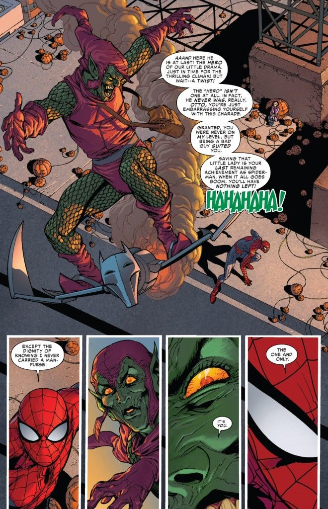 "Green Goblin realizes he's going against the ""original"" Spider-Man in Superior Spider-Man #31"