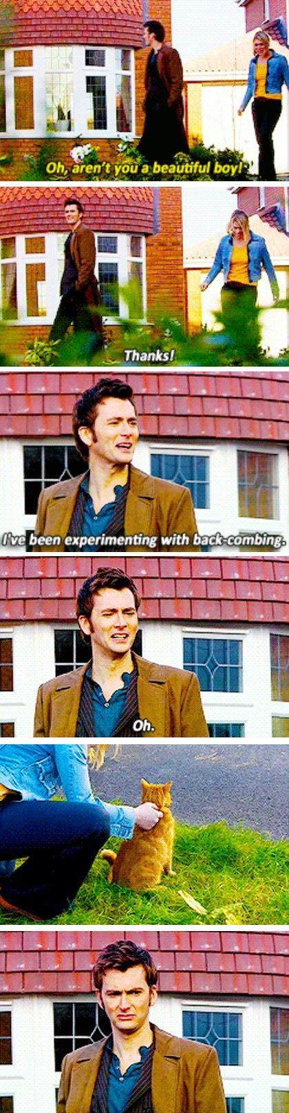 It's funny to see the Doctor getting jealous over a cat!