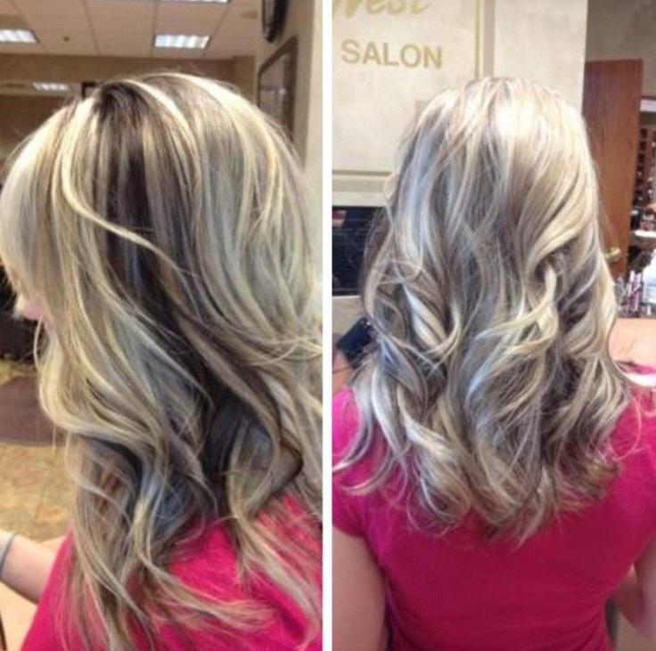 Highlights With Peekaboo Lowlights Curly Hair Pinterest