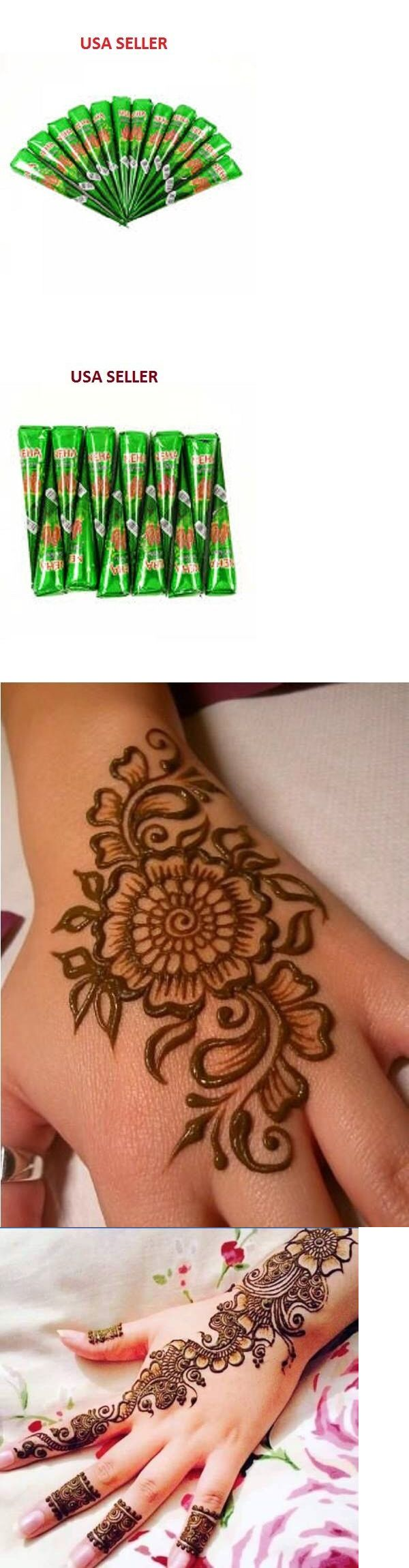 Temporary Tattoos: 36 X Neha Fast Instant Henna Cones Temporary Tattoo Body Art Mehendi Ink -> BUY IT NOW ONLY: $37.19 on eBay!