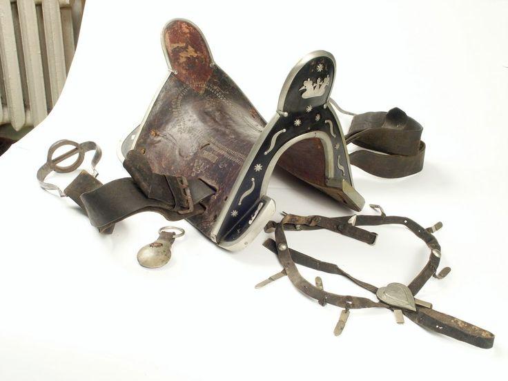 Седло казачье с клеймом мастера сулимитина. Кожа, металлический декор. Конец 19 в.