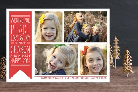 Wish Banner Holiday Photo Cards by The Social Type at minted.com
