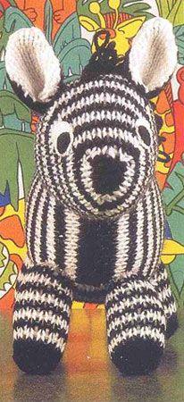 зебра вязаная спицами