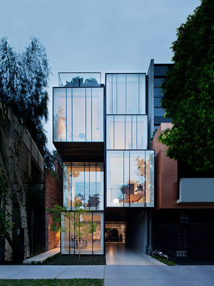 Stacked zinc boxes form multi-generational house b…