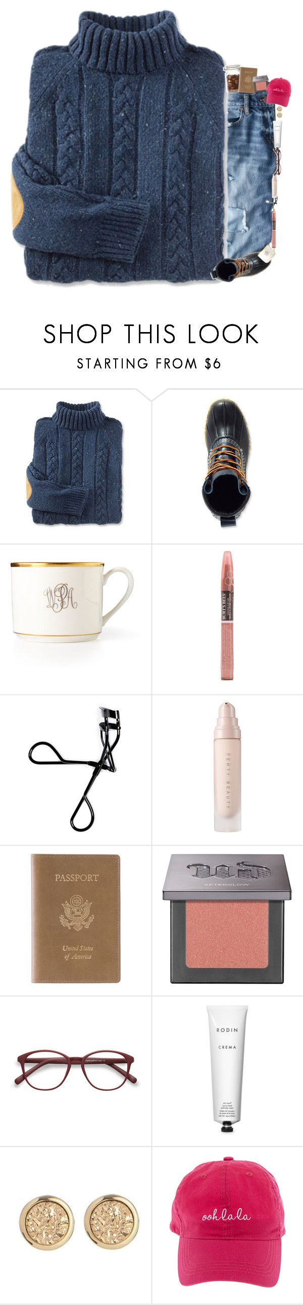 """""""Ooh la la"""" by mac-moses ❤ liked on Polyvore featuring J.Crew, L.L.Bean, Pickard, Burt's Bees, Bobbi Brown Cosmetics, Royce Leather, Urban Decay, EyeBuyDirect.com and Rodin"""