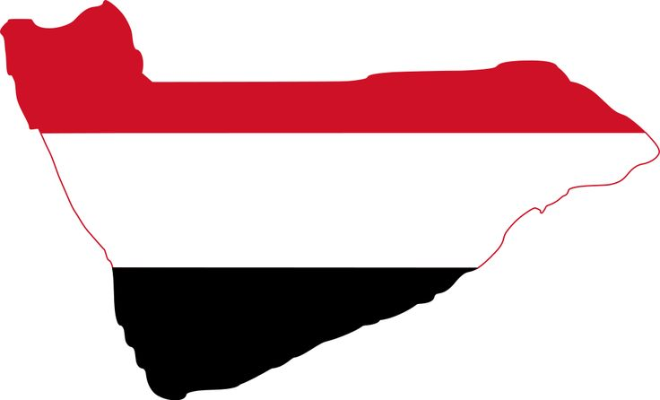 Yemen Flag Map. The Flag of Yemen was adopted on May 22, 1990, the day that North Yemen and South Yemen were unified. According to the official description, the red stands for the bloodshed of martyrs and unity; the white for a bright future; black for the dark past.