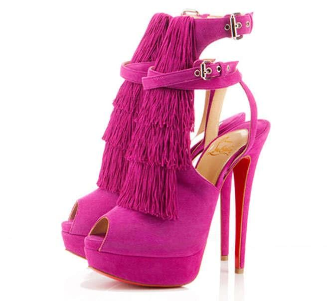 Christian Louboutin scarpe rosa shocking