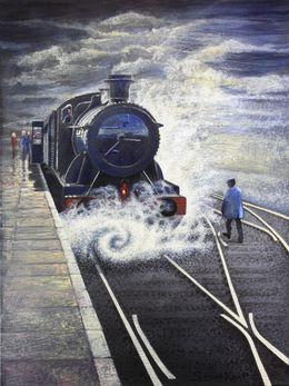Train Steam  Vintage by simon-knott-fine-artist at zippi.co.uk