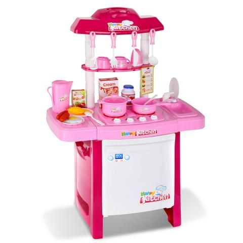 Kids Play Set Little Chef Kitchen 25 Piece - Pink - LetsElude