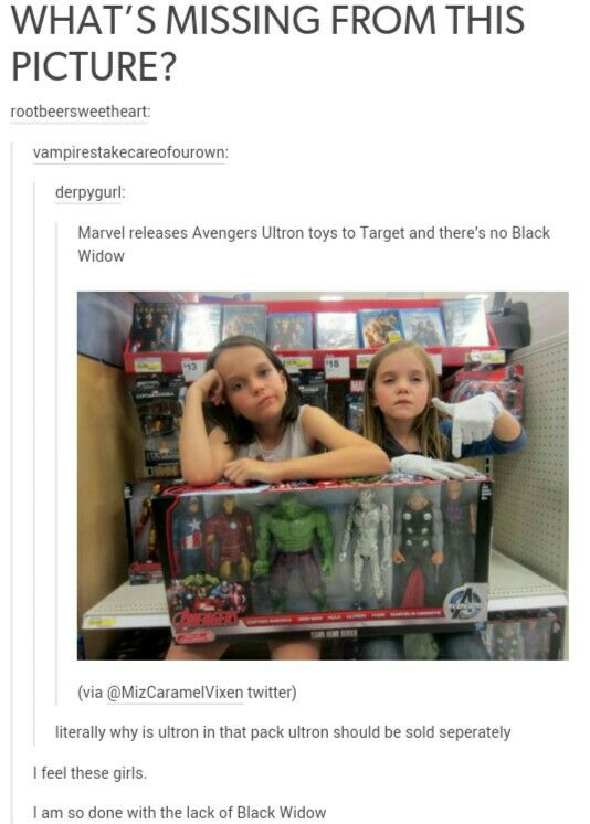 THIS   I love Iron Man and Hawkeye, but Black Widow is just as great...and there's never any merchandise for her