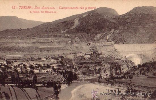 TREMP (LERIDA) - SAN ANTONIO - CAMPAMENTO RIO Y MURO - L. ROISIN