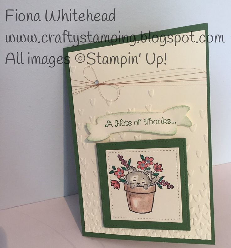 Stampin' Up! Pretty Kitty and Thankful Thoughts www.craftystamping.blogspot.com