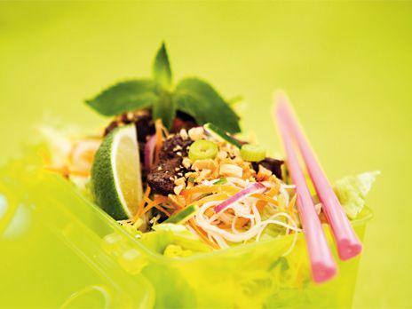 Vietnamesisk nudelsallad med biff | Recept från Köket.se