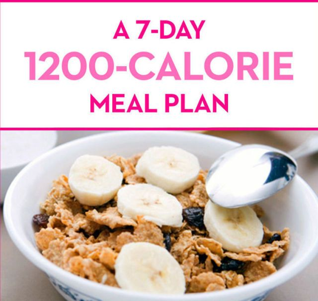 A 7-Day, 1200-Calorie Meal Plan - GoodHousekeeping.com