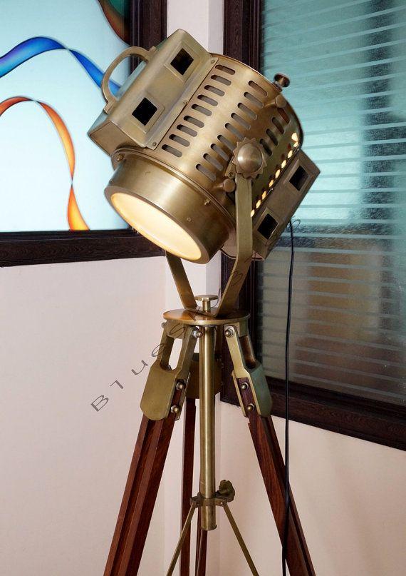 ARRI 40's Vintage Industrial Floor Lamp Theater Stage Nautical Spotlight Task Lamp