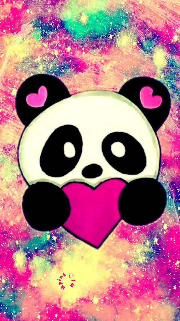I Love Pandas Galaxy Wallpaper Androidwallpaper Iphonewallpaper