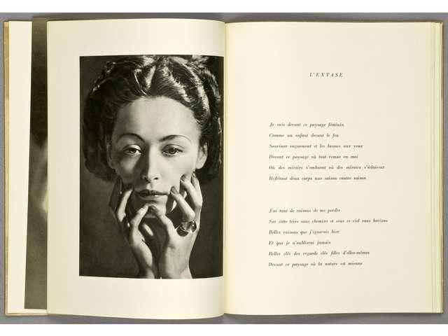 'Le temps déborde'  Paris, les Cahiers d'Art, 1947   par Paul Eluard - Dora Maar - Man Ray