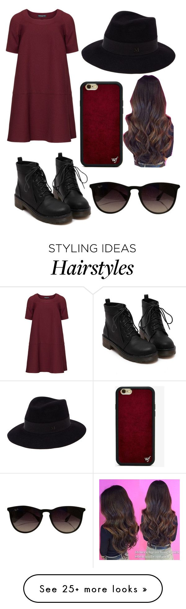 """""""Sin título #113"""" by erikabojorquez on Polyvore featuring Manon Baptiste, Maison Michel, Wildflower, Ray-Ban and plus size dresses"""