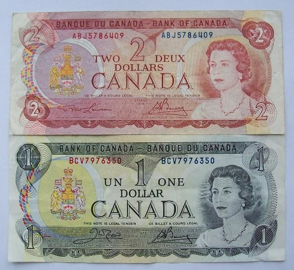 before the loonie and toonie...