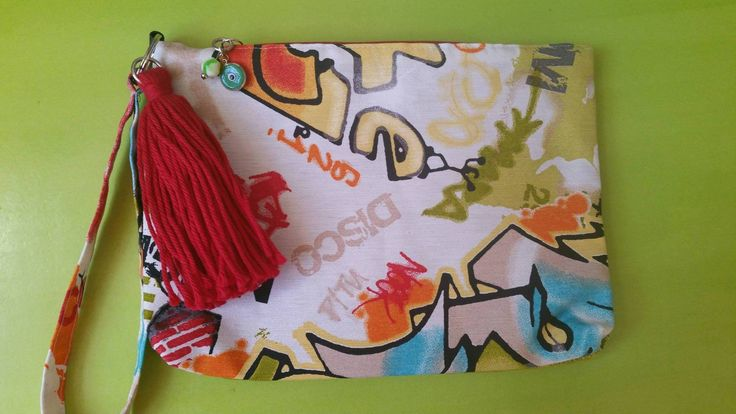 hand made pop art clutch find us on https://www.facebook.com/LikeThingsDecoration/