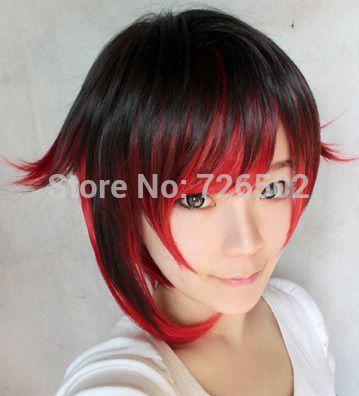 [Сяо мо] Rwby Руби Роз 35 см длинные Multi-Color красивая Аниме парик высокой температуры провода coser косплей парик бесплатная доставка