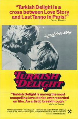 Turks Fruit/Turkish Delight (1973, Paul Verhoeven) A young woman (Monique van de Ven) offers a ride to a hitchhiking sculptor (Rutger Hauer) and embarks upon a difficult romance with him.