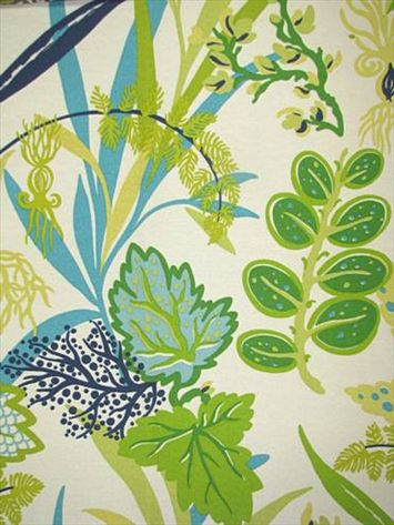 """Fishbowl Aquamarine $10.95    Waverly Fabric 673951. Sun N Shade Outdoor fabric perfect for patio or front porch. 100% poly. Resists sun (500 hrs) and mildew. 16"""" repeat, 54"""" wide."""
