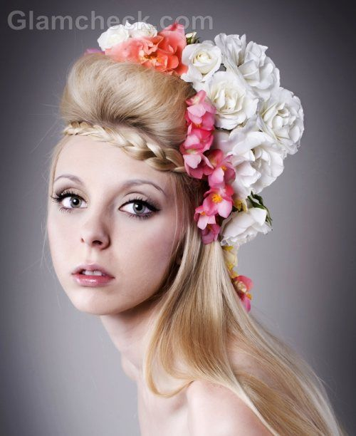 Sport a bohemian hairstyle for the wedding