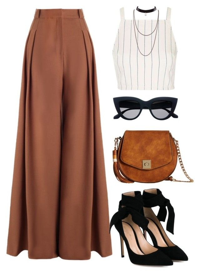 """Untitled #687"" by luhmartins ❤ liked on Polyvore featuring Topshop, Zimmermann, Gianvito Rossi and Gabriella Rocha"