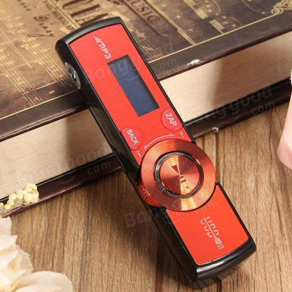 LCD Screen USB Mp3 Music Player FM Radio Support 16GB Micro SD TF Card with Earphone Sale - Banggood.com