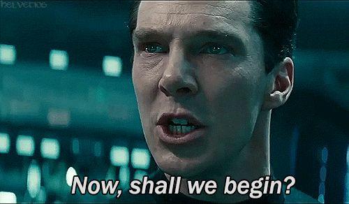 Star Trek Into Darkness Kahn(Benedict Cumberbatch) why do I always prefer the villains!!!