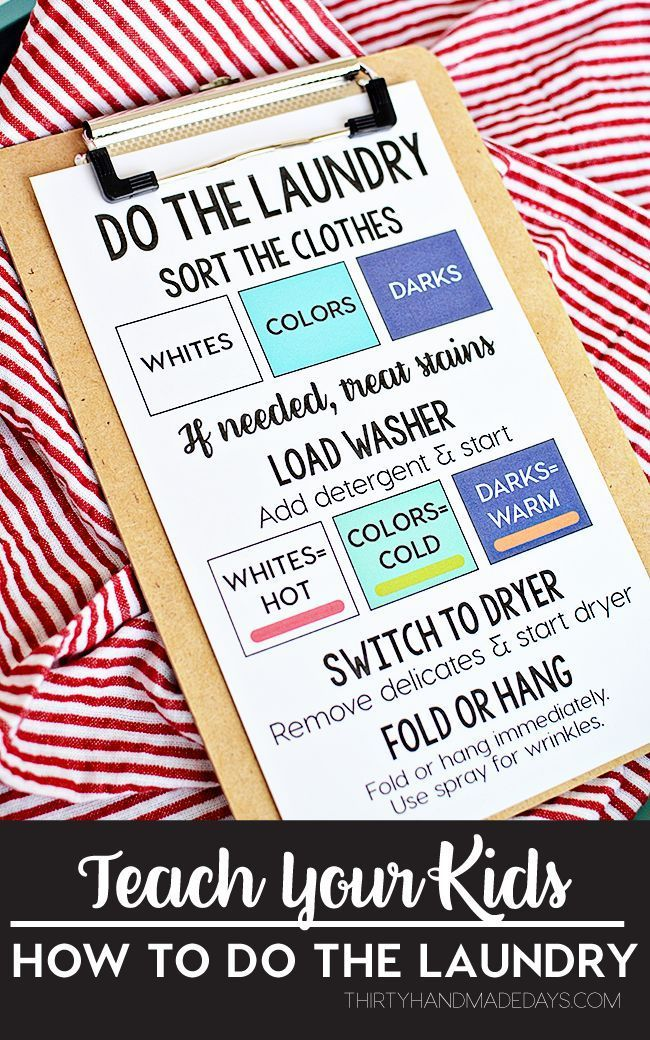 Teach Your Kids How to Do the Laundry! This will help with getting back into the swing of things with back to school.