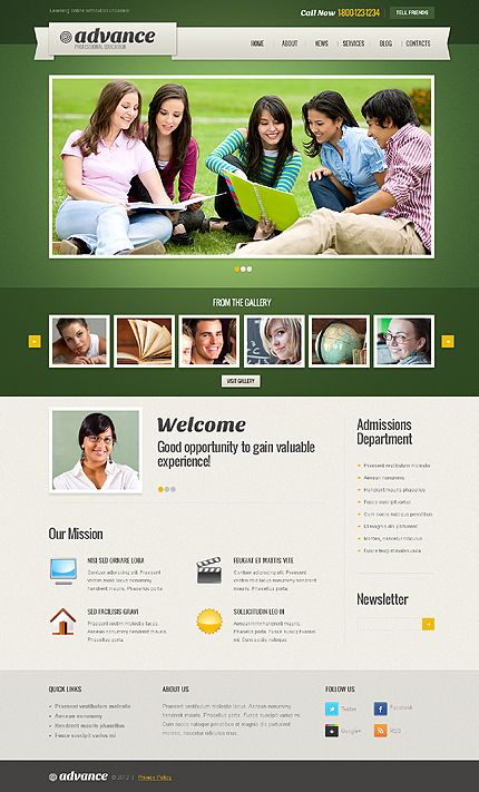 Advance Education WordPress Themes by Elza