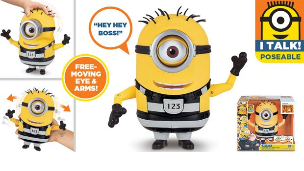 TALKING MINION ACTION FIGURE TALKING JAIL TIME CARL