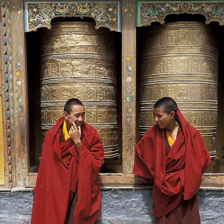 Tibetan monks. Tibet
