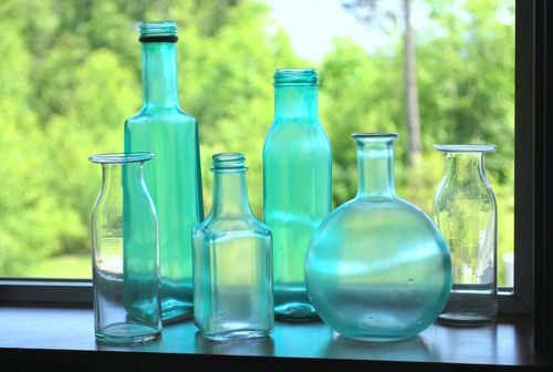 """Do It Yourself Sea Glass Bottles.  This tutorial suggests using a coat of matte varnish to seal the color. """"If you don't put a sealer over it, it will wash right off."""""""