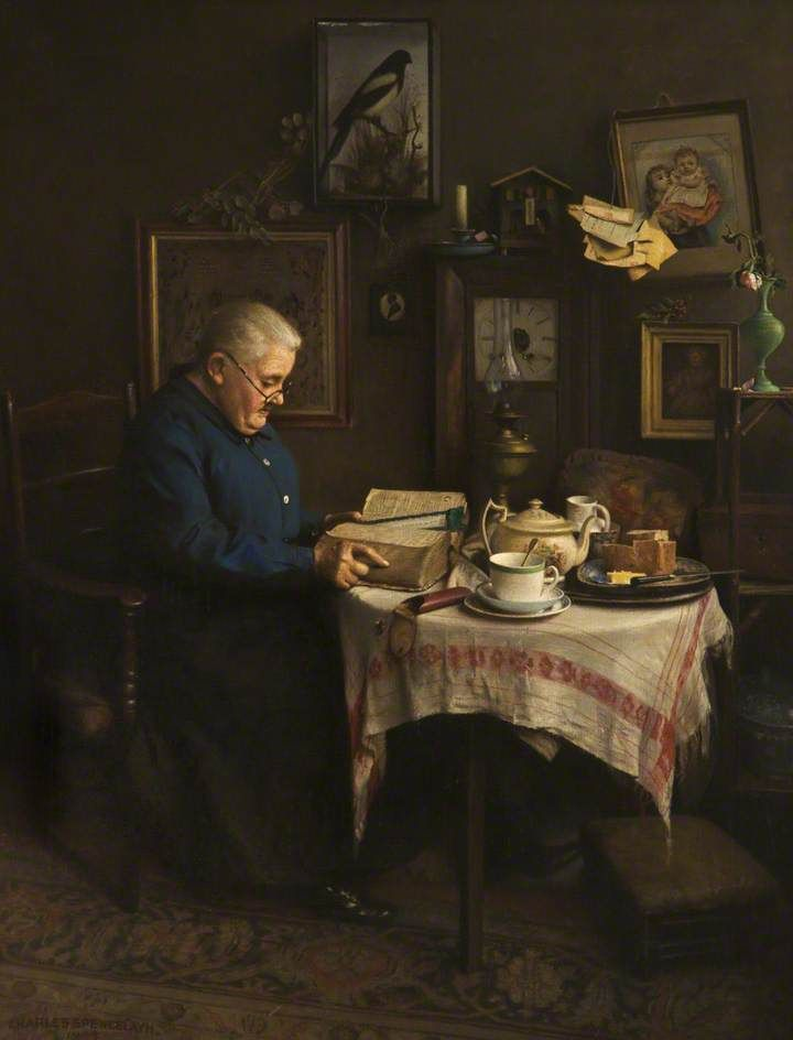 Generation to Generation,1949 by Charles Spencelayh