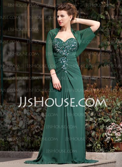 Mother of the Bride Dresses - $142.99 - A-Line/Princess Sweetheart Sweep Train Chiffon Mother of the Bride Dress With Ruffle Lace Beading Sequins (008018747) http://jjshouse.com/A-Line-Princess-Sweetheart-Sweep-Train-Chiffon-Mother-Of-The-Bride-Dress-With-Ruffle-Lace-Beading-Sequins-008018747-g18747