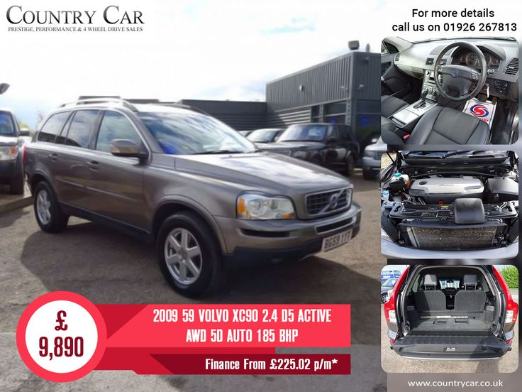 £9,890 | 2009 59 VOLVO XC90 2.4 D5 ACTIVE AWD 5D AUTO 185 BHP Finance From £225.02 p/m*  #Volvo #XC90 #VolvoXC90 #cars #5D #Volvo's #countrycar #usedcars #Amazingusedcars #luxurycars #supercars #customerservice #porsche #carsales #dealership #deals #carsofinstagram
