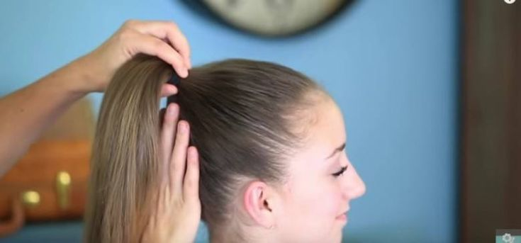 FanBunInProcess | How to Turn a Ponytail into a Fan Bun