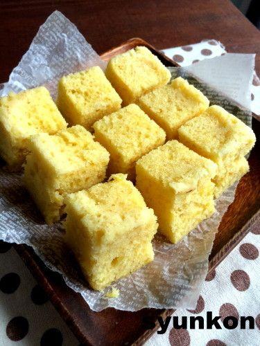【簡単!!!おやつ】オーブン不要!レンジで3分!冷めてもふわふわ*さつまいも蒸しケーキ|山本ゆりオフィシャルブログ「含み笑いのカフェごはん『syunkon』」Powered by Ameba