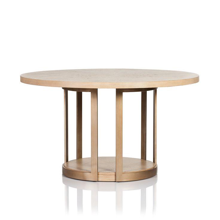 MANHATTAN ROUND LIGHT OAK DINING TABLE
