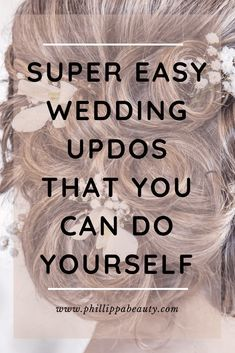 Easy Wedding Updos - tuck the ends -Easy Wedding Updos | DIY Bridesmaid Hairstyles | If you're looking for an easy wedding updo or bridesmaid hair ide...