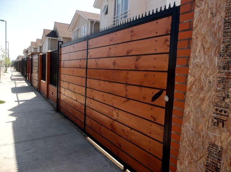 Reja metalica y madera portones pinterest google y for Ver modelos de puertas de madera