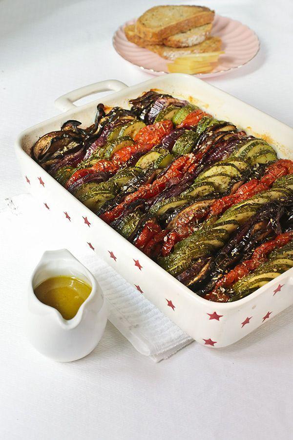 María Lunarillos: Verduras a la provenzal con vinagreta de miel y mostaza