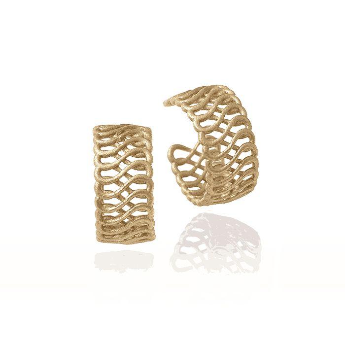 Eternity gold earings