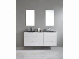 Ferrara 1500 White Double Wall Hung Vanity