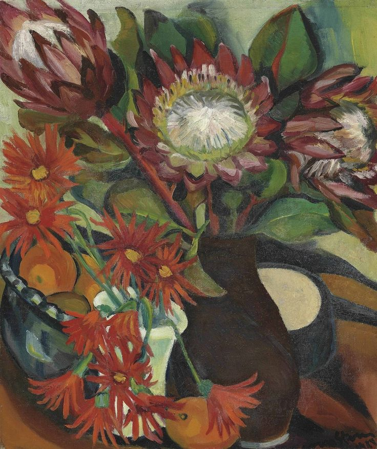 thunderstruck9:  Irma Stern (South African, 1894-1966), Proteas, 1924. Oil on canvas, 22 x 19 in.