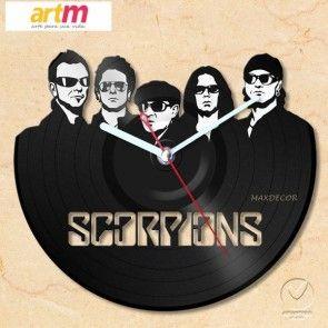 Relogio em disco de vinil banda Scorpions